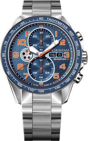 Graham Watch Silverstone RS Racing Orange Blue Bracelet