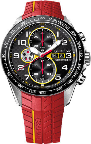 Graham Watch Silverstone Racing Red Yellow