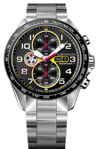 Graham Watch Silverstone Racing Red Yellow Bracelet