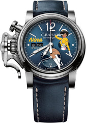 Graham Watch Chronofighter Vintage Nose Art Nina Limited Edition