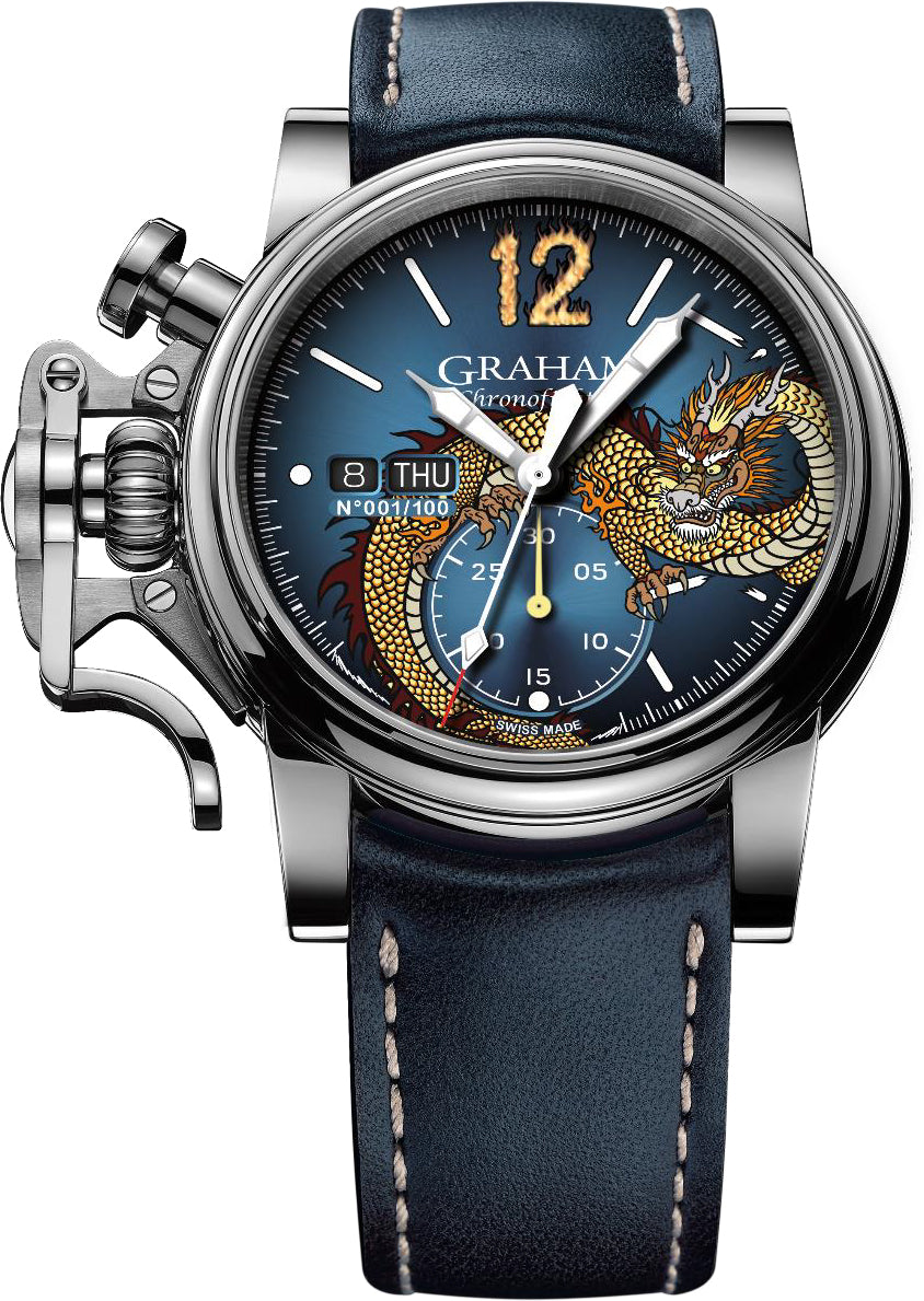Graham Watch Chronofighter Vintage Noseart Dragon Limted Edition