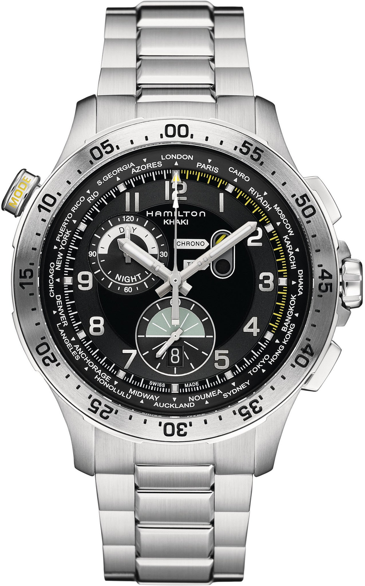 Hamilton Watch Khaki Aviation Chrono Worldtimer