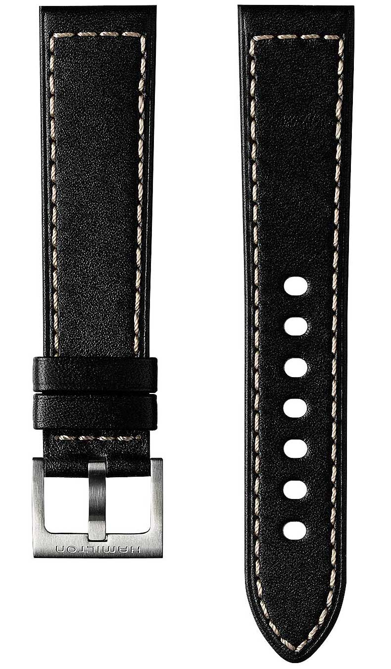 hamilton strap khaki field leather black