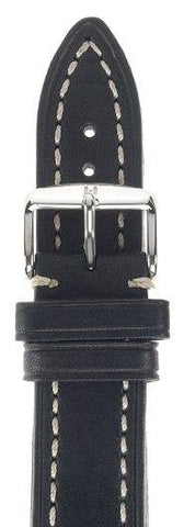 Hirsch Strap Liberty Black Large 24mm