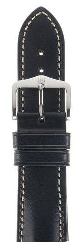 Hirsch Strap Heavy Calf Black Large 20mm