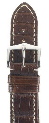 Hirsch Strap Viscount Alligator Matt Brown Large 20mm