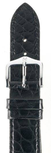 Hirsch Strap Regent Alligator Matt Black Medium 18mm