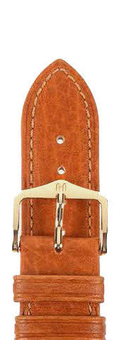 Hirsch Strap Camelgrain Honey Large 18mm