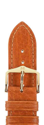 Hirsch Strap Camelgrain Honey Medium 12mm