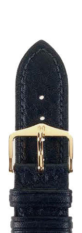 Hirsch Strap Camelgrain Black Medium 12mm