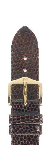Hirsch Strap Lizard Brown Large 18mm