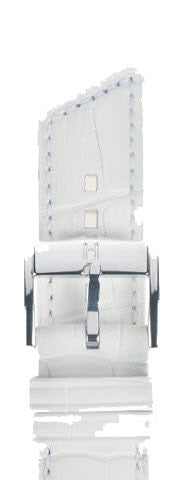 Hirsch Strap Princess White Medium 18mm
