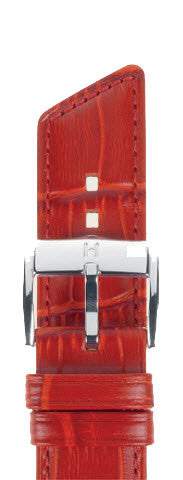 Hirsch Strap Princess Red Medium 18mm