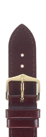 Hirsch Strap Osiris Burgundy Large 18mm