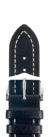 Hirsch Strap Buffalo Black Large 22mm