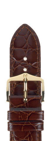 Hirsch Strap Crocograin Brown Medium 16mm
