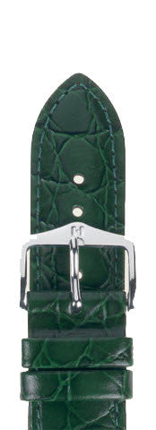 Hirsch Strap Crocograin Green Medium 12mm