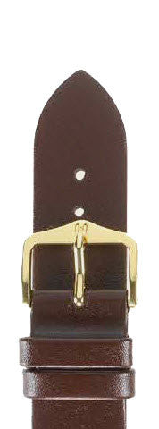 Hirsch Strap Diamond Calf Brown Large 18mm