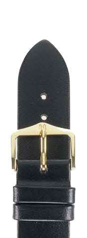 Hirsch Strap Diamond Calf Black Large 20mm