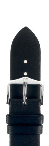 Hirsch Strap Italocalf Black Medium 12mm
