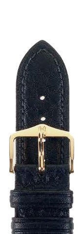 Hirsch Strap Camelgrain Black Large 18mm