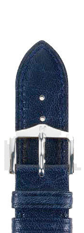 Hirsch Strap Camelgrain Blue Large 18mm