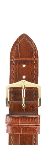 Hirsch Strap Duke Goldbrown Large 18mm
