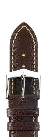 Hirsch Strap Heavy Calf Brown Large 24mm