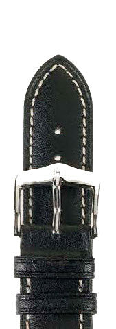 Hirsch Strap Heavy Calf Black Large 24mm
