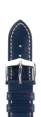 Hirsch Strap Heavy Calf Blue Large 24mm