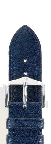 Hirsch Strap Ascot Blue Large 24mm