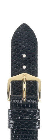 Hirsch Strap Lizard Black Large 18mm