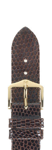 Hirsch Strap Lizard Brown Large 20mm