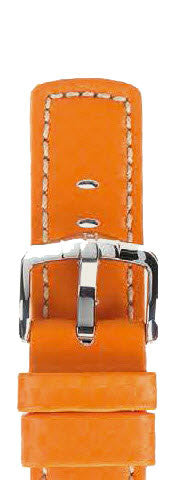Hirsch Strap Carbon Orange Large 20mm