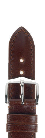 Hirsch Strap Siena Brown Large 18mm