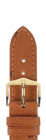 Hirsch Strap Massai Ostrich Goldbrown Large 19mm
