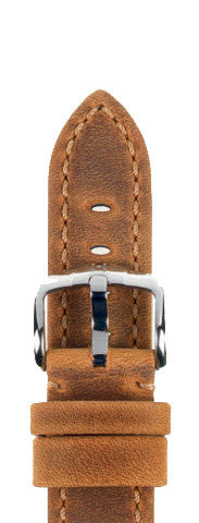 Hirsch Strap Terra Goldbrown Large 20mm