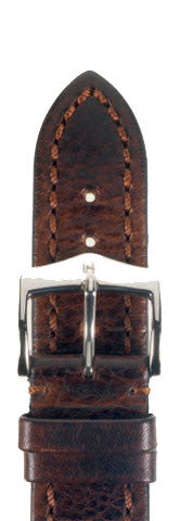 Hirsch Strap Lucca Brown Large 22mm