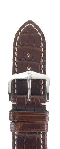 Hirsch Strap Viscount Alligator Brown Large 22mm