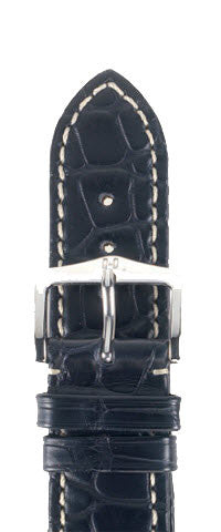 Hirsch Strap Viscount Alligator Black Large 22mm