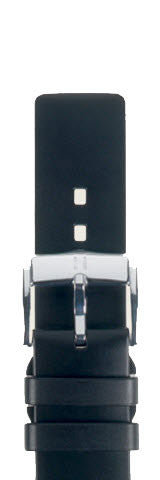 Hirsch Strap Pure Black Large 24mm