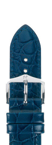 Hirsch Strap Crocograin Blue Medium 20mm