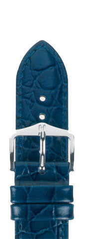 Hirsch Strap Crocograin Blue Medium 18mm