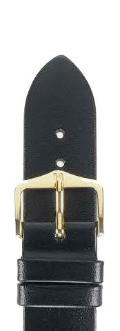 Hirsch Strap Diamond Calf Black Large 18mm