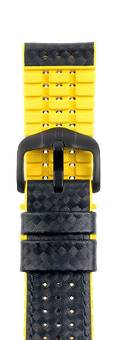 Hirsch Strap Ayrton Yellow Large 22mm