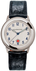 Harwood Watch Silver Opaline Leather