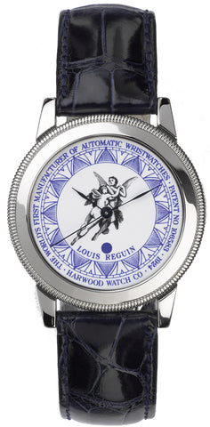 Harwood Watch Platinum Enamel Leather Limited Edition