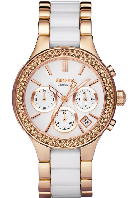 DKNY Watch Chambers Ceramic Ladies