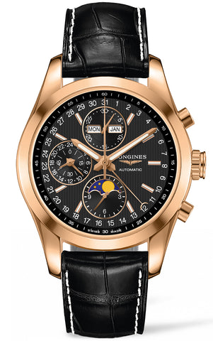 Longines Watch Conquest Classic Moonphase Chronograph Mens