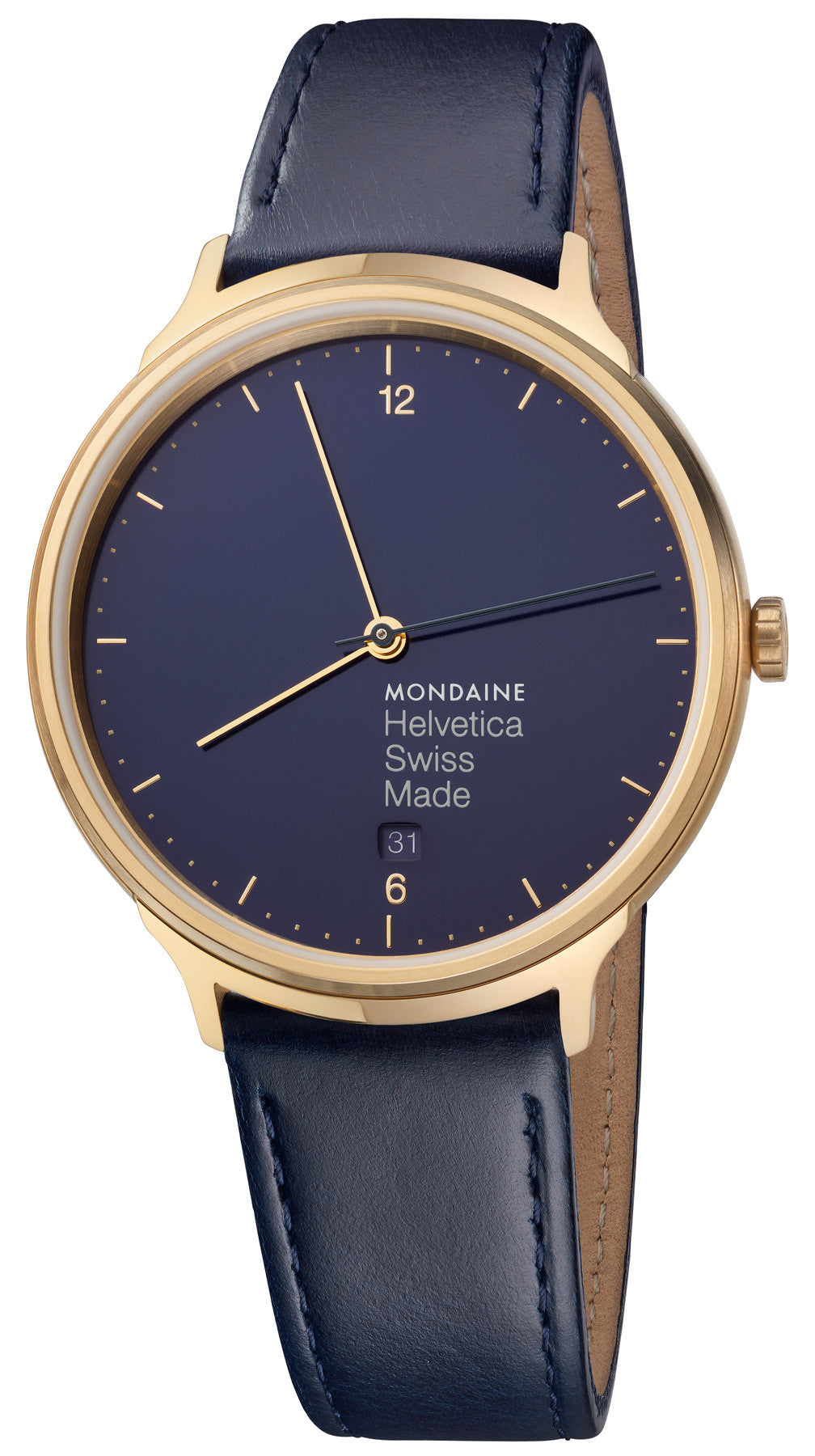Mondaine Watch Helvetica No1 Blue Marine